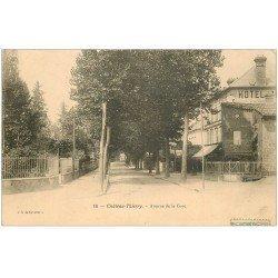 carte postale ancienne 02 CHATEAU-THIERRY. Hôtel Avenue de la Gare 1905