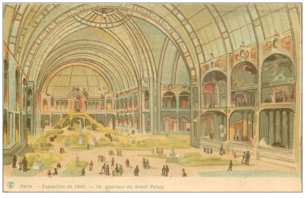 Paris exposition universelle 1900 int rieur grand palais for Interieur 1900