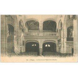 carte postale ancienne 10 TROYES. Calvaire Eglise Saint-Nicolas 1905