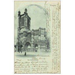 carte postale ancienne 10 TROYES. Cathédrale Saint-Pierre et Paul 1903
