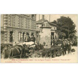 carte postale ancienne 10 TROYES. Char des Pigeons Voyageurs. Fêtes de la Bonneterie. Poste sans relai...