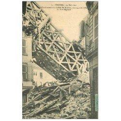 carte postale ancienne 10 TROYES. Effrondrement du Clocher de Saint-Jean Rue Mignard 1911