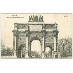 carte postale ancienne PARIS Ier. Carrousel Arc Triomphe 1919