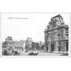 carte postale ancienne PARIS Ier. Cour du Carrousel