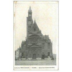 carte postale ancienne PARIS Ier. Eglise Saint-Etienne-du-Mont. Le Petit Journal