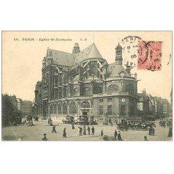 carte postale ancienne PARIS Ier. Eglise Saint-Eustache 1906