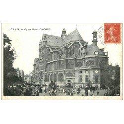 carte postale ancienne PARIS Ier. Eglise Saint-Eustache 1907