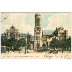 carte postale ancienne PARIS Ier. Eglise Saint-Germain l'Auxerrois 1905