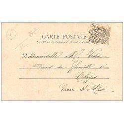 carte postale ancienne PARIS Ier. Le Palais de Justice Timbre 1 Centime 1902