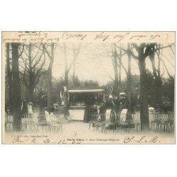 carte postale ancienne PARIS VECU. La Boutique de Jeux et friandises 1904
