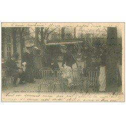 carte postale ancienne PARIS VECU. La Boutique de Jeux et les premiers pas de Bébé 1905 Nurses