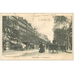 carte postale ancienne PARIS VECU. Le Boulevard 1905