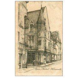 carte postale ancienne ANCIEN PARIS. Hôtel Herouêt. Par Robin