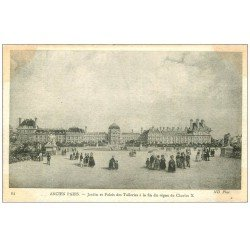 carte postale ancienne ANCIEN PARIS. Jardin Palais des Tuileries