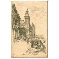 carte postale ancienne ANCIEN PARIS. La Conciergerie. Par Robin en 1904