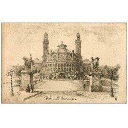 carte postale ancienne ANCIEN PARIS. Le Trocadéro. Par Robin en 1905