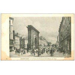 carte postale ancienne ANCIEN PARIS. Porte Boulevard Saint-Denis 1840