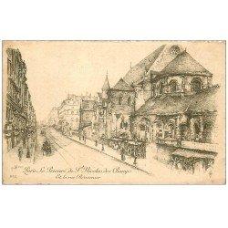 carte postale ancienne ANCIEN PARIS. Prieuré Saint-Nicolas des Champs rue Réaumur. Par Robin