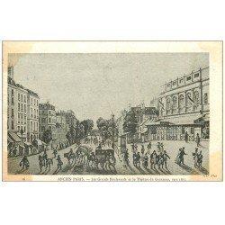 carte postale ancienne ANCIEN PARIS. Théâtre Gymnase Grands Boulevards
