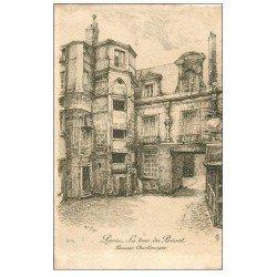 carte postale ancienne ANCIEN PARIS. Tour du Prévot passage Charlemagne. Par Robin en 1904