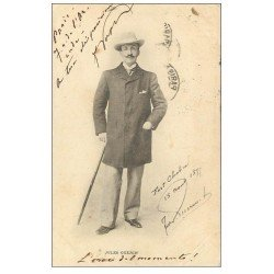 carte postale ancienne 1899 PARIS 10. Jules Guerin Journaliste à Fort Chabrol. Timbre 10 Centimes 1899