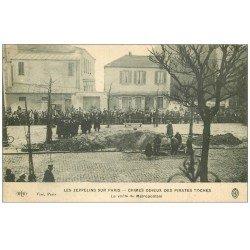 carte postale ancienne METRO PARIS. Les Zeppelins. La Voûte du Métropolitain effondrée