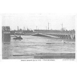 carte postale ancienne INONDATION DE PARIS 1910. Pont Mirabeau. Collection Taride