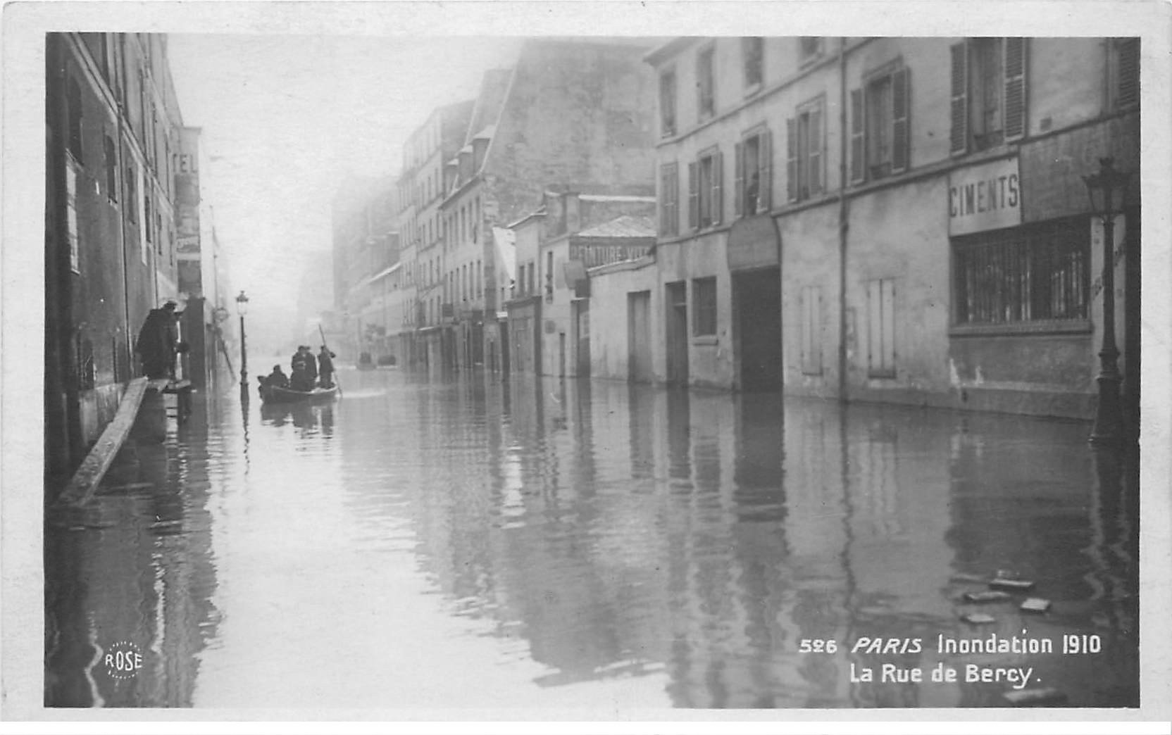 inondation et crue paris 1910 rue de bercy. Black Bedroom Furniture Sets. Home Design Ideas