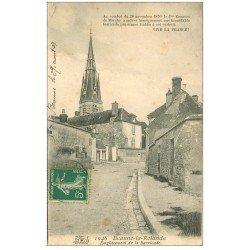 carte postale ancienne 45 BEAUNE-LA-ROLANDE. Emplacement de la Barricade 1907