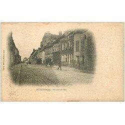 carte postale ancienne 45 BOISCOMMUN. La Grande Rue vers 1900