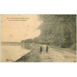 carte postale ancienne 45 CHATEAUNEUF-SUR-LOIRE. Promenades du Chastaing avec écoliers