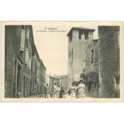 carte postale ancienne 11 ARQUES. Le Clocher Avenue de Couiza
