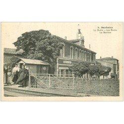 carte postale ancienne 11 BARBAIRA. Mairie, Ecoles et Barrière
