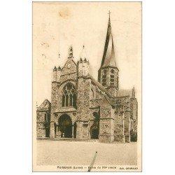 carte postale ancienne 45 PUISEAUX. Eglise 1934