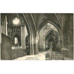 carte postale ancienne 45 PUISEAUX. Eglise Bas-côté 1934