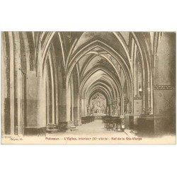 carte postale ancienne 45 PUISEAUX. Eglise Nef 1929
