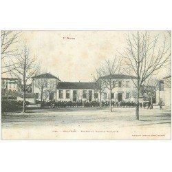 carte postale ancienne 11 BELVEZE. Mairie et Groupe Scolaire