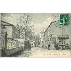 carte postale ancienne 11 BELVEZE. Pharmacie Avenue de la Gare