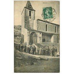 carte postale ancienne 11 BELVIS. L'Eglise 1910