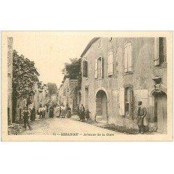 carte postale ancienne 11 BIZANET. Avenue de la Gare. Restaurant Buvette