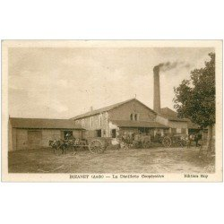 carte postale ancienne 11 BIZANET. La Distillerie Coopérative 1950