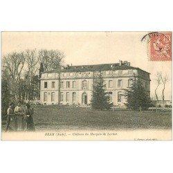 carte postale ancienne 11 BRAM. Château du Marquis de Lordat 1904