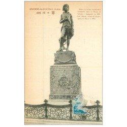 carte postale ancienne 11 BRIENNE-LE-CHATEAU. Statue de Bonaparte 1923