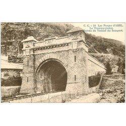 carte postale ancienne 64 ABEL. Les Forges. Tunnel du Somport Le Transpyrénéen 1936