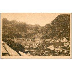 carte postale ancienne 64 ARTOUSTE. Le Barrage sur le Lac 1951