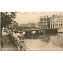 carte postale ancienne 64 BAYONNE. Le Pont Mayou