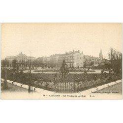 carte postale ancienne 64 BAYONNE. Les Nouveaux Jardins