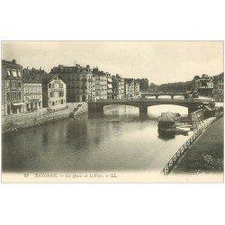 carte postale ancienne 64 BAYONNE. Les Quais de la Nive
