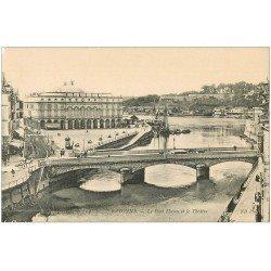 carte postale ancienne 64 BAYONNE. Pont Mayou et Théâtre n°4