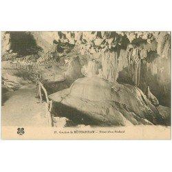 carte postale ancienne 64 BETHARRAM. Grottes. Un Plafond